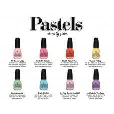 "China Glaze ""Pastel Collection"" Polish 15ml"